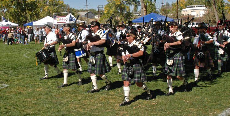 Masses bands at Aztec Highland Games.